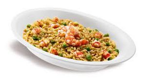 RISOTTO 3 CEREALI CON GAMBERI E CURRY GR